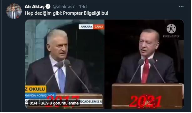Erdoğan'ın konuşması, Yıldırım'ın 4 yıl önce yaptığı konuşmanın aynı çıktı