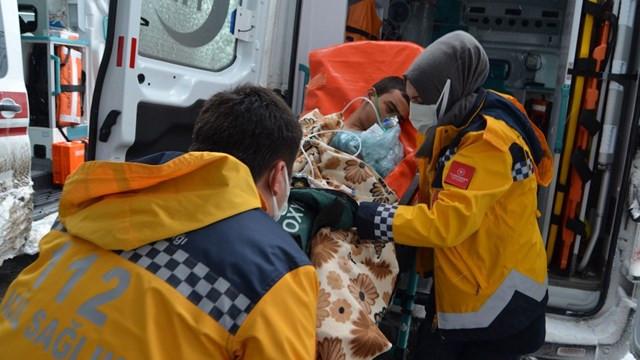 Aksaray'da soba gazı nedeniyle 17 kişi hastanelik oldu