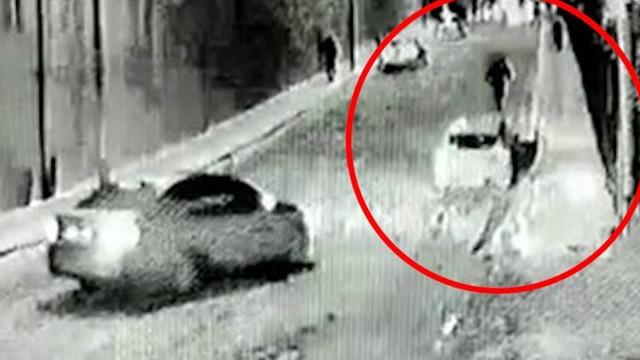3 yaşındaki çocuğun olduğu araba böyle kaydı!