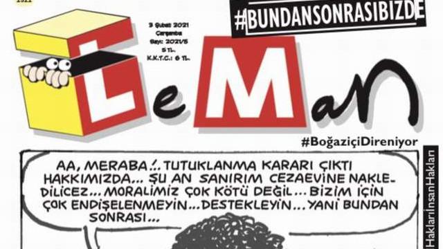 Leman'dan Boğaziçi kapağı: ''Bundan sonrası bizde!''