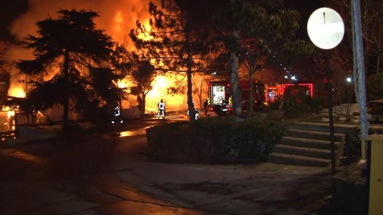 Boğaziçi Üniversitesi kampüsünde yangın!