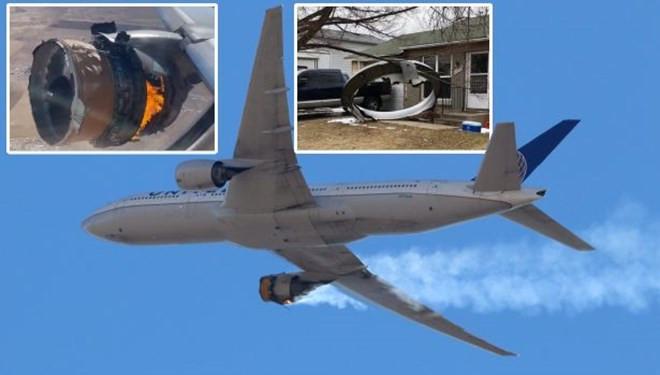 Havada kabus! Alev alan uçağın parçaları yere düştü