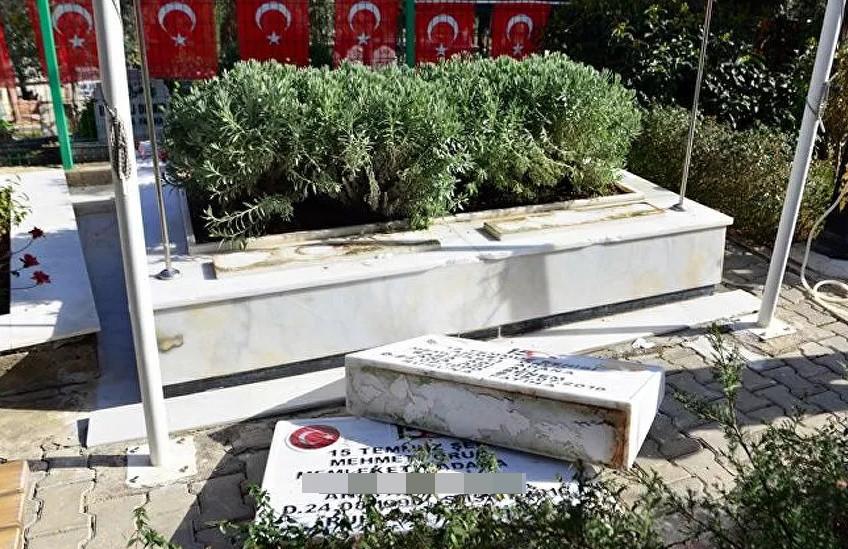 15 Temmuz şehitlerinin mezarlarını yıktılar!