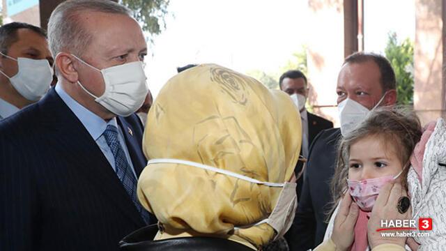 Erdoğan çifti, Ayda bebek ve ailesini ziyaret etti