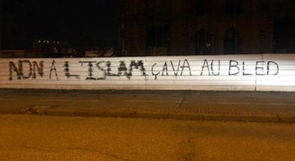 Fransa'da camiye ırkçı saldırı