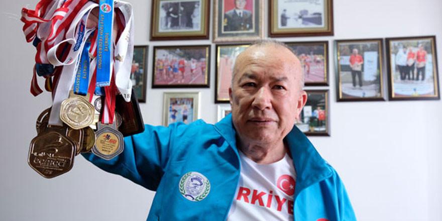 Emekli astsubay Ali Demirhan Türkiye rekorları kırıyor