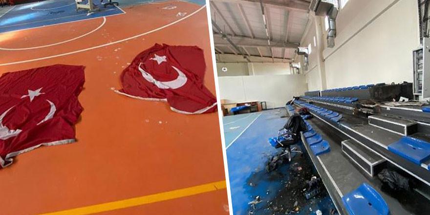 MHP'li belediyeye ait spor salonunda kahreden görüntü!