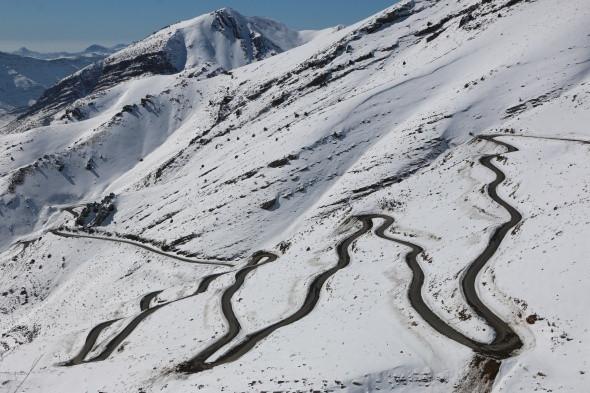 Türkiye'nin ''yılan yolu'' böyle görüntülendi