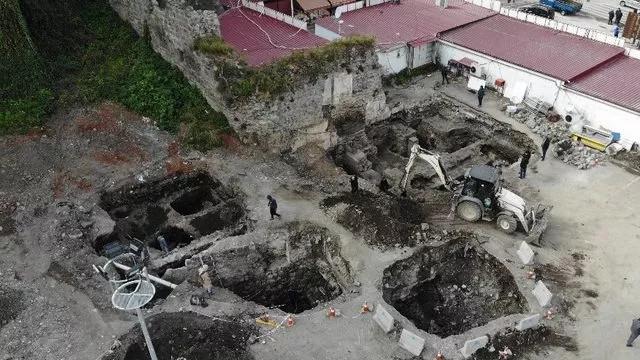 Trabzon'da Roma dönemine ait yapılar keşfedildi