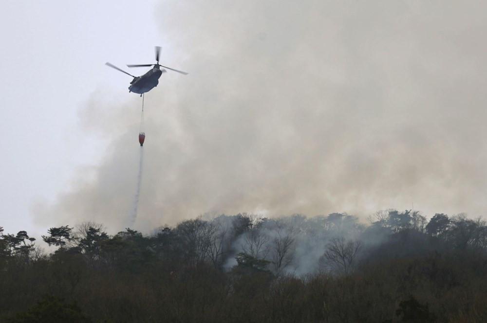 Japonya'da yangın felaketi! 6 gündür söndürülemedi