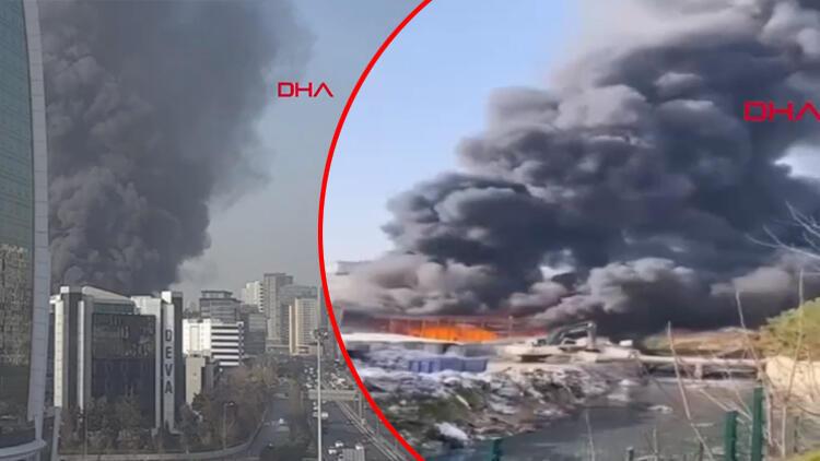 İstanbul'da büyük yangın! Dumanlar kilometrelerce uzaktan görülüyor