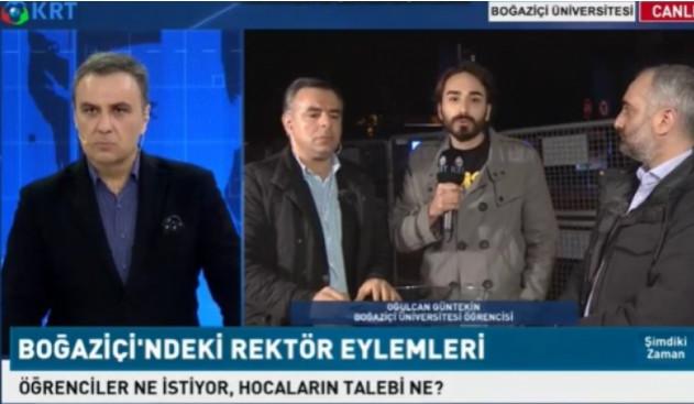 Türkiye Boğaziçi protestolarını KRT - Şimdiki Zaman'dan izledi