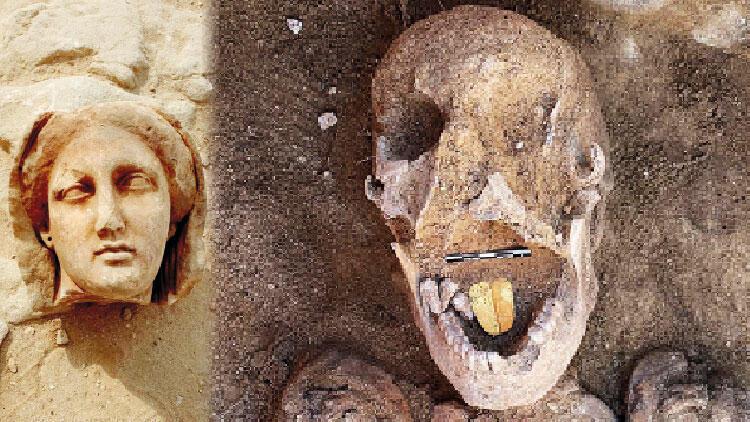 Mısır'da yeni keşif: Altın dilli mumya bulundu