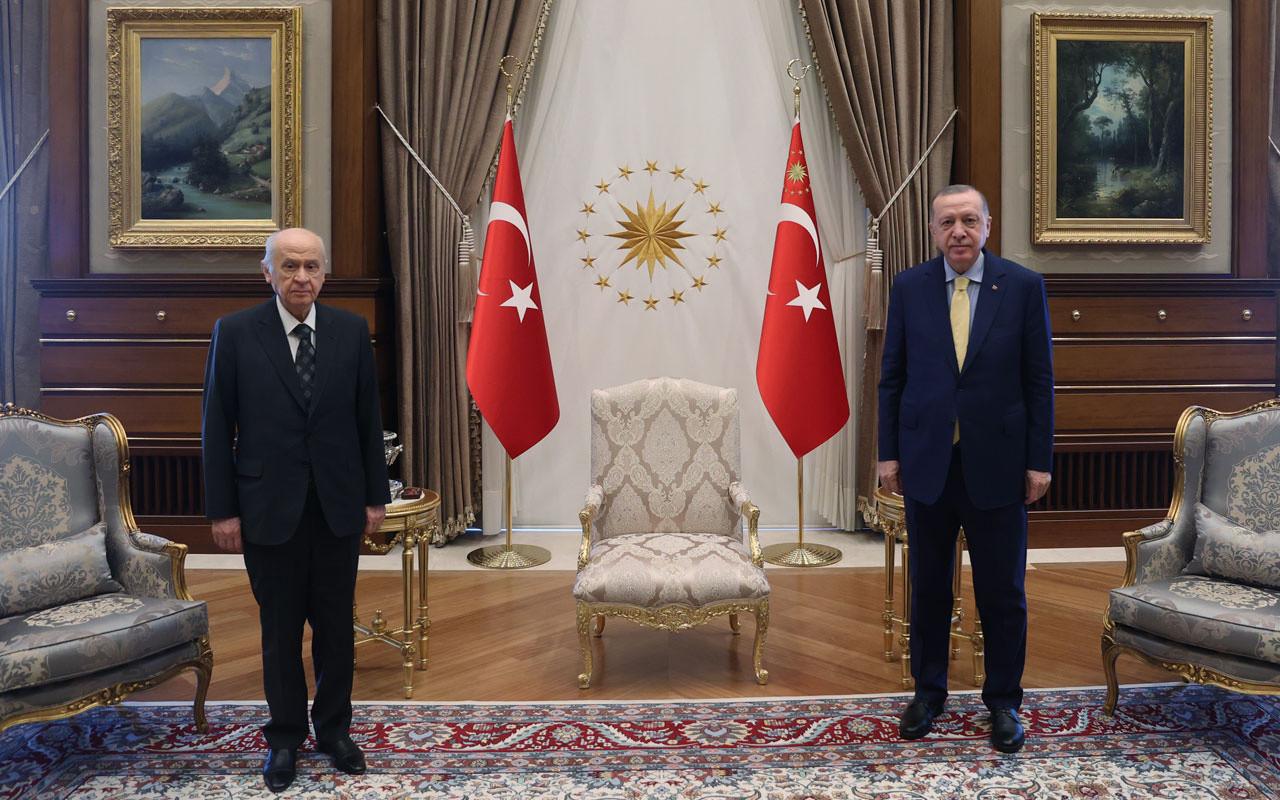 Erdoğan ve Bahçeli'den ''yeni anayasa'' görüşmesi! Ayrıntılar ortaya çıktı