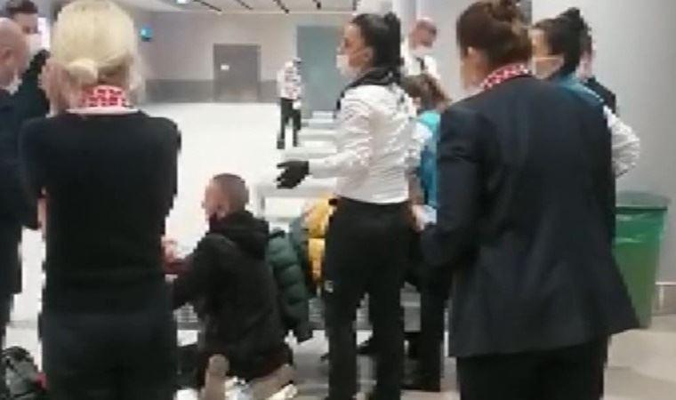 İstanbul Havalimanı'nda doğum yaptı