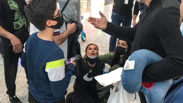 İstanbul Havalimanı'nda hareketli dakikalar! İranlı kadın fenalık geçirdi