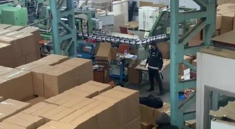 İstanbul'da kaçak fabrikaya baskın! 47 milyon adet ele geçirildi