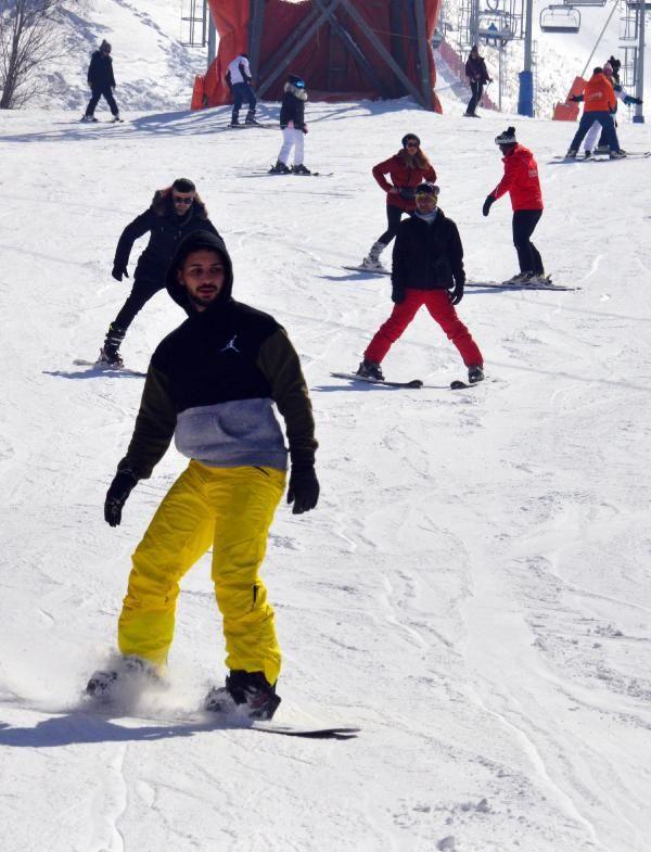 Palandöken'da kısıtlamada kayak keyfi - Resim: 3