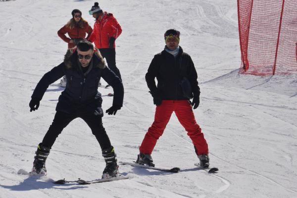 Palandöken'da kısıtlamada kayak keyfi - Resim: 4