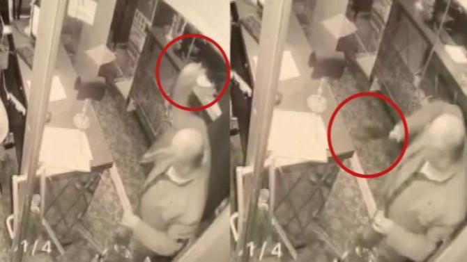 İstanbul'da otele satırlı baskın kamerada