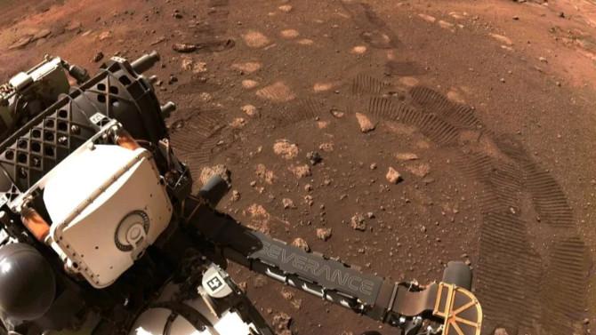 Perseverance, Mars'ta ilk test sürüşü