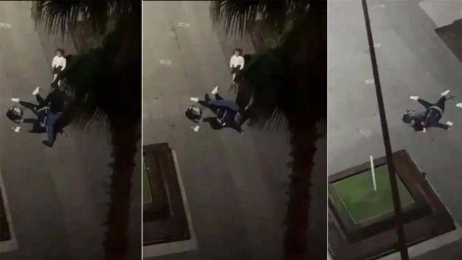 Sokak ortasında eski eşini öldüresiye döven cani tutuklandı