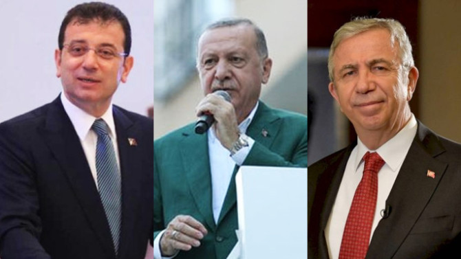 Son anketten AK Parti'ye soğuk duş: İmamoğlu da, Yavaş da Erdoğan'ı geçti!