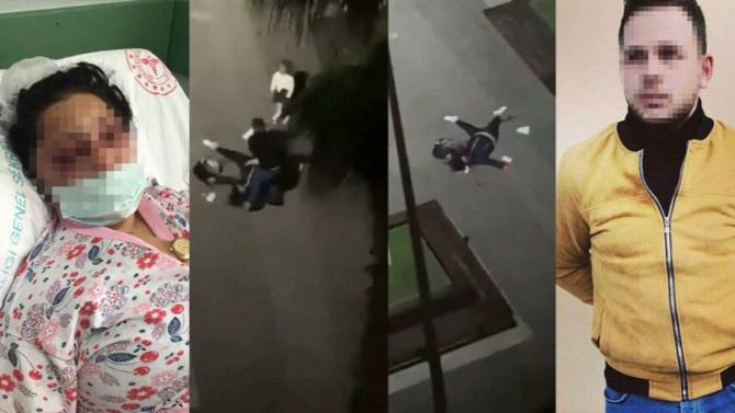 Samsun'daki kadına şiddet olayında yeni görüntüler