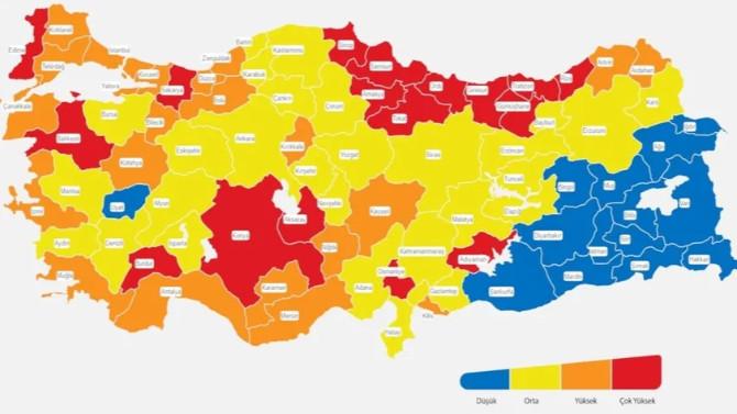 Risk haritasının ''sarı illeri''nde yaşayanlara kötü haber!