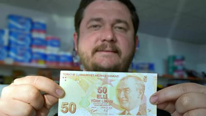 Hatalı basım 50 liralık banknotu satışa çıkardı