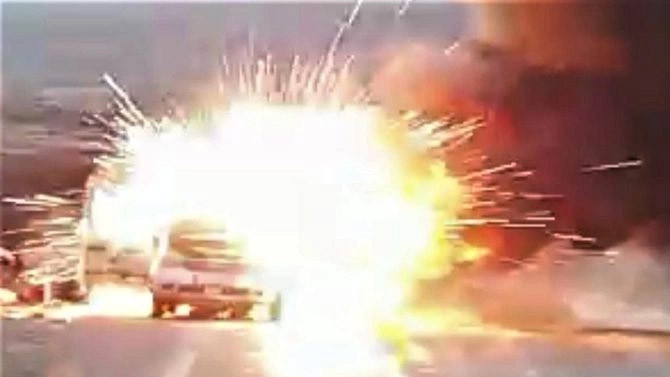 Elazığ'da bir otomobil alev alev yandı!