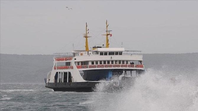 Deniz ulaşımına fırtına engeli Seferler iptal edildi
