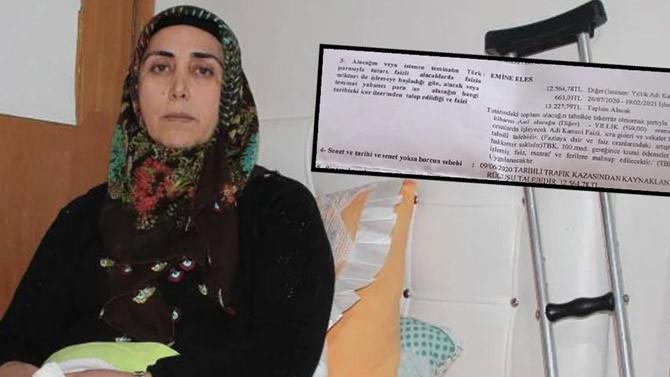 Ölümden dönen kadına 13 bin 227 TL'lik hasar faturası!