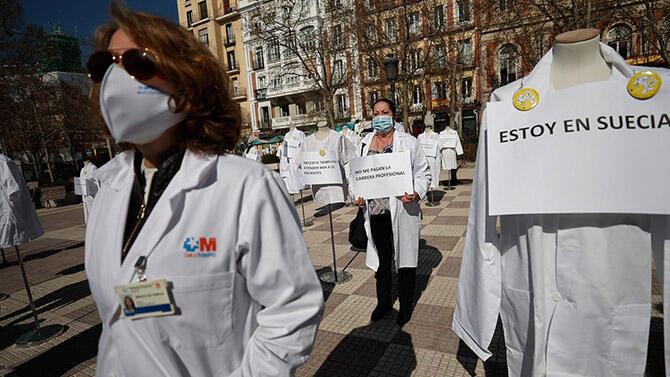 Madrid'de doktorlardan süresiz grev!