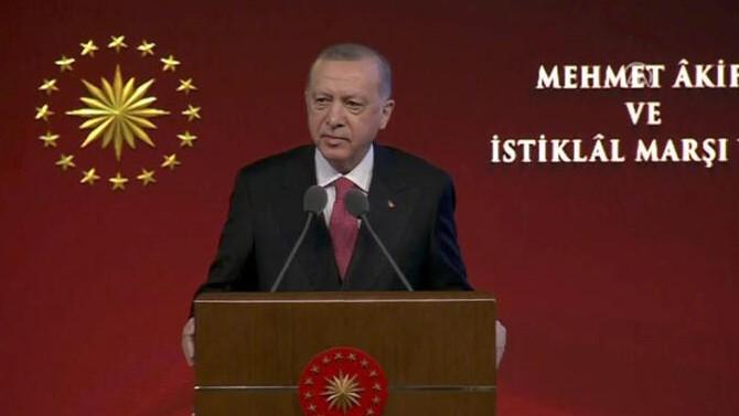 Cumhurbaşkanı Erdoğan: İstiklal Marşı 84 milyonun ortak paydasıdır