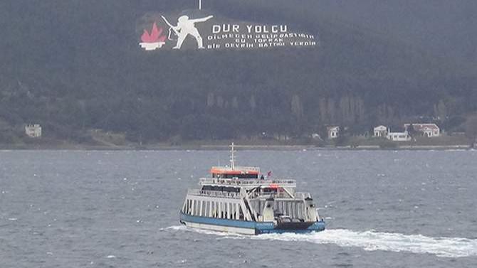 Gökçeada ve Bozcaada'ya feribot seferleri durdu