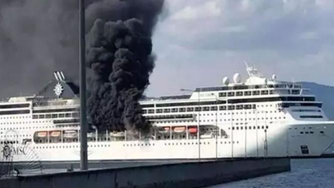 Sper lüks cruise gemisinde yangın