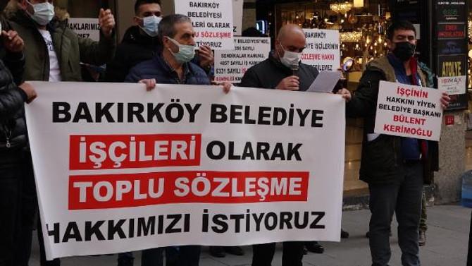 Bakırköy Belediyesi işçileri eylemde