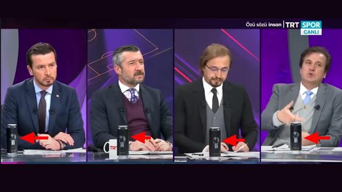 TRT canlı yayınında ''yasaklı ürün'' reklamı