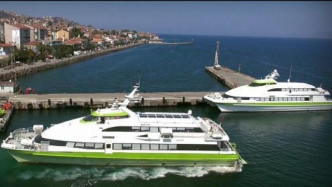 Bursa'da deniz otobüslerinin 5 seferi iptal edildi