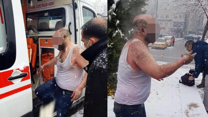 Ailesiyle tartıştı, benzin döküp kendini yaktı