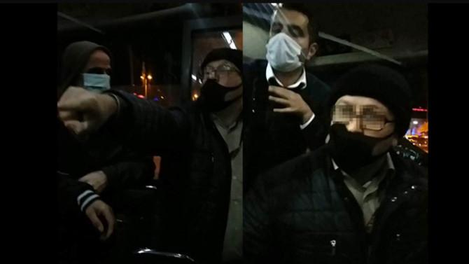 İETT otobüsünde maske kavgası kamerada