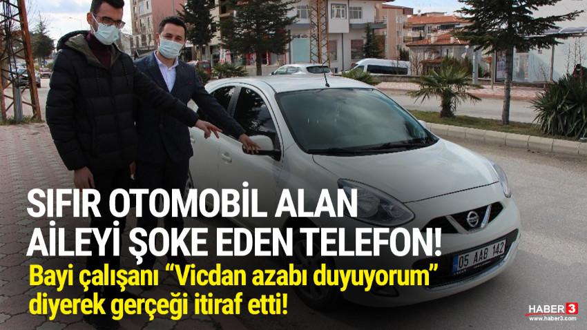 Sıfır otomobil alan aileye şok telefon: ''Aracınız hasarlı''