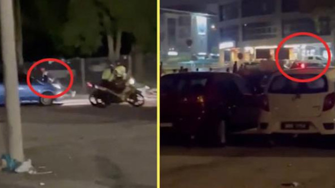 Arabada cinsel ilişkiye giren çift polisten böyle kaçtı!