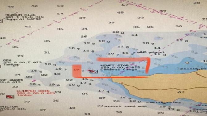 Bozcada açıklarında kargo gemisi karaya oturdu