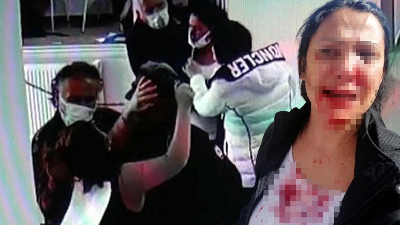 Karakolda dehşet! Polisin gözü önünde yüzüne kalem sapladı
