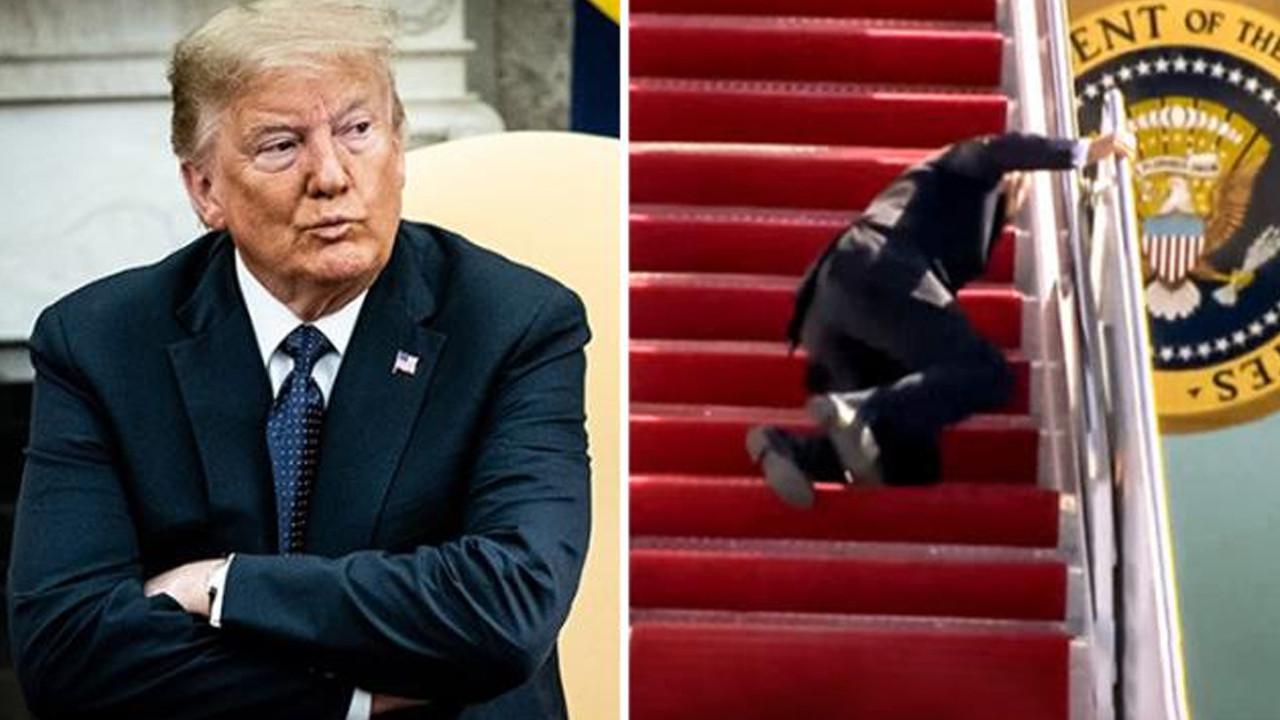 Biden yere kapaklandı, Trump bombayı patlattı