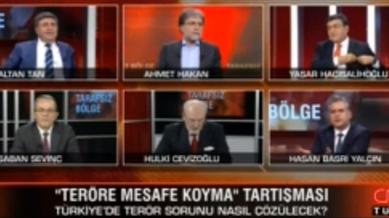 Canlı yayın karıştı; Ahmet Hakan reklama ''kaçtı''!