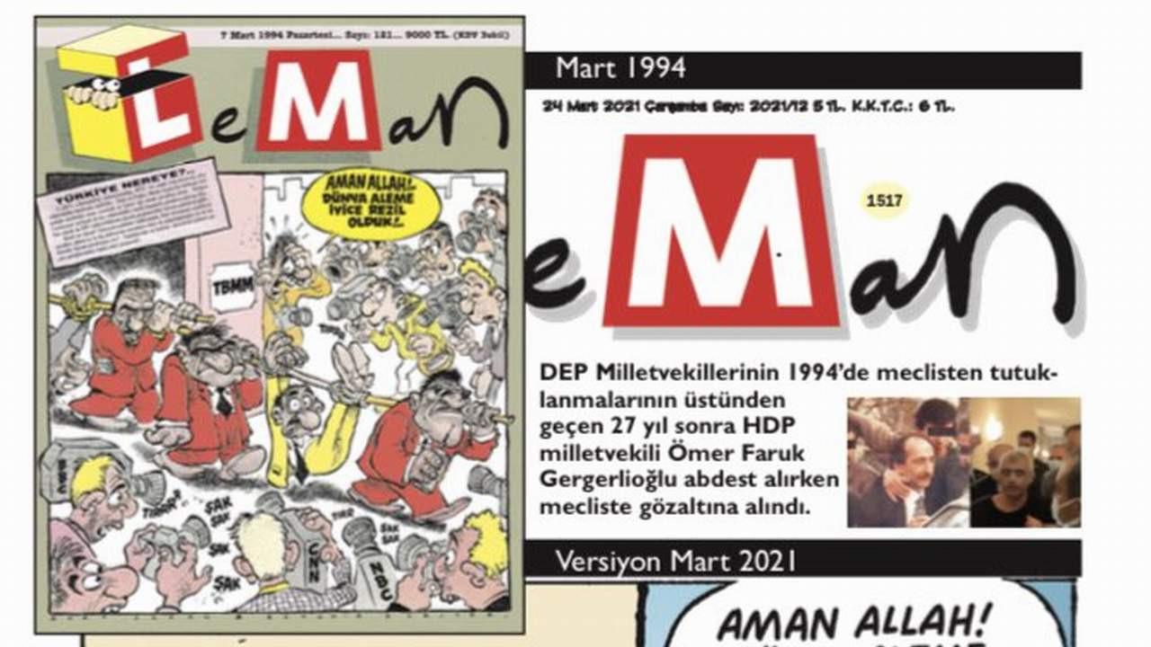 LeMan 27 yıl sonra aynı kapakla çıktı!