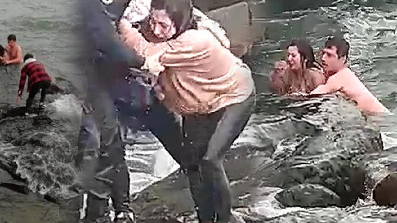 Denize düşen 15 yaşındaki kızı bekçi kurtardı